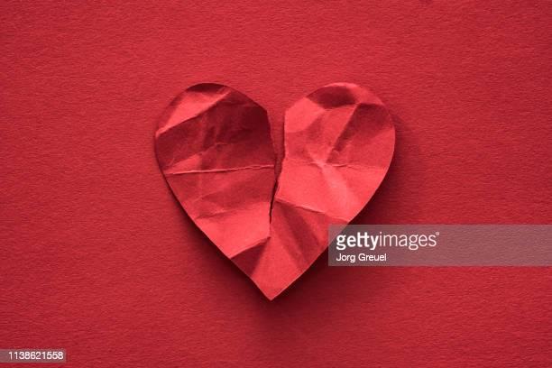 Torn paper heart
