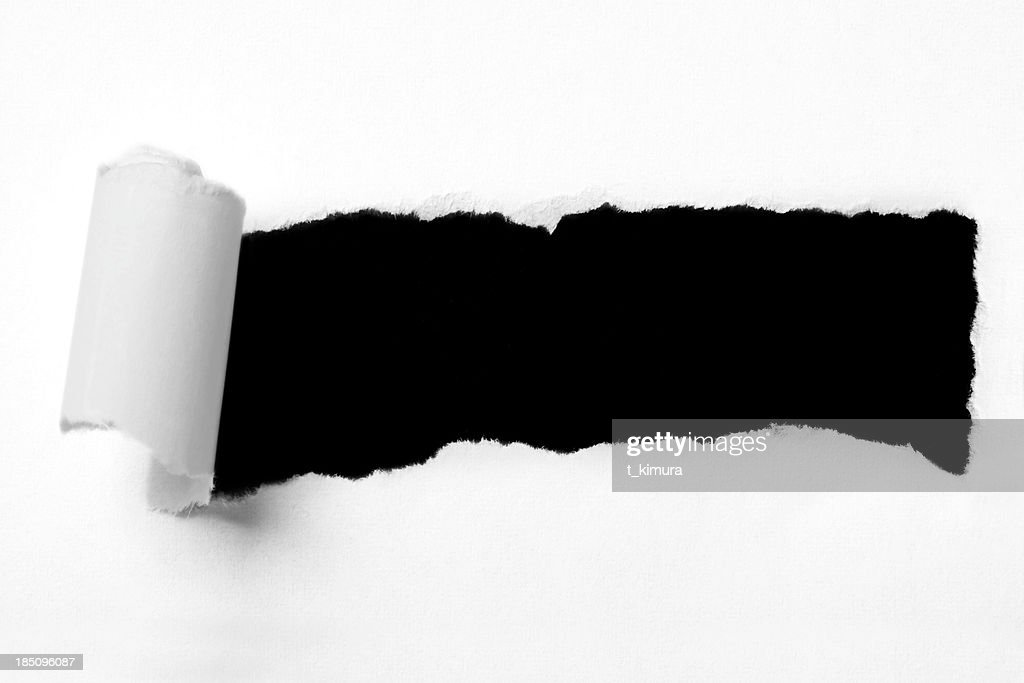 Torn paper hole : Stock Photo