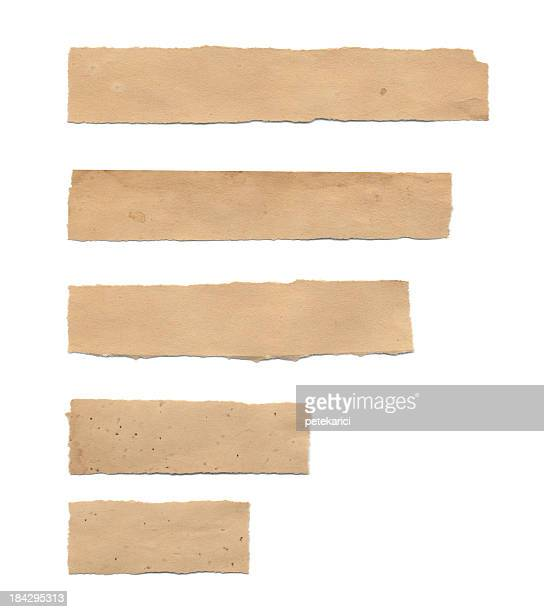 torn piece of old paper (isolated) - brown paper stock pictures, royalty-free photos & images