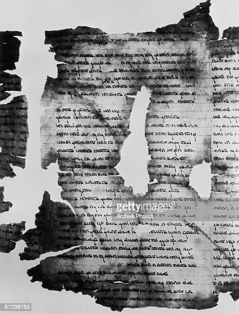 150 BC A torn portion of the Dead Sea Scrolls one the major archaeological finds of the twentieth century discovered in 1947 concealed within jars in...