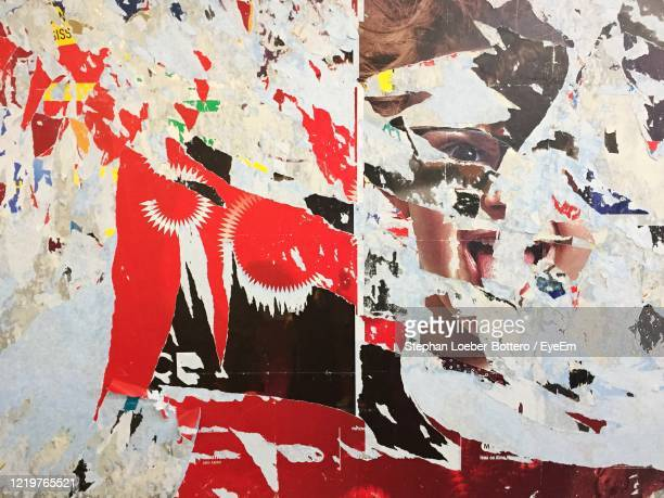 torn posters and billboards - torn stock pictures, royalty-free photos & images