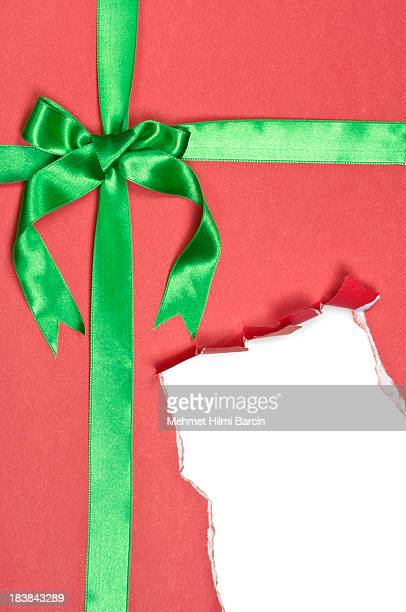 Torn Red Gift Box