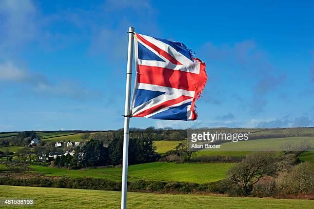 Torn Union flag