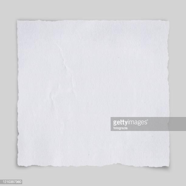 torn white paper - square ストックフォトと画像