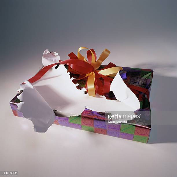 Torn Wrapping on Gift