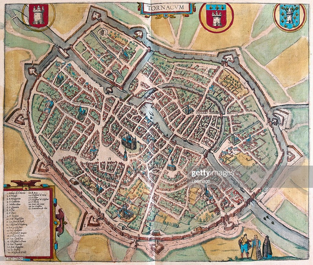 Map of Tournai from Civitates Orbis Terrarum Pictures Getty Images