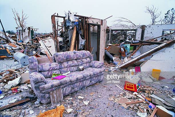 tornado damage to home - destruction stock pictures, royalty-free photos & images