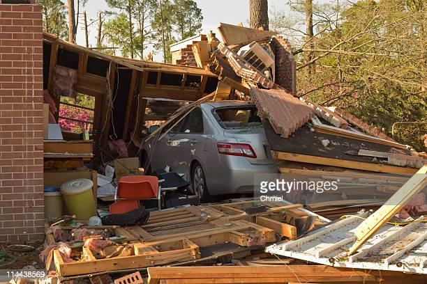 Tornado Damaged Car