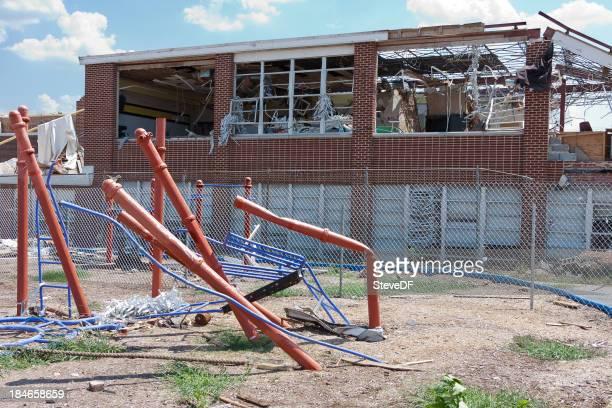 Tornado Damaged Playground and School
