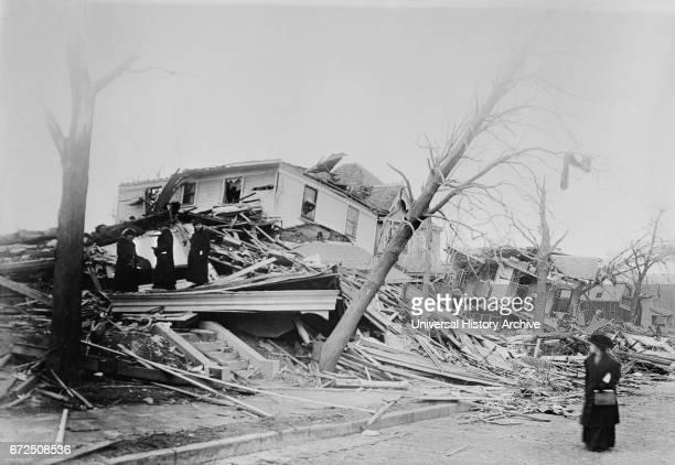 Tornado Destruction Omaha Nebraska USA Bain News Service March 1913