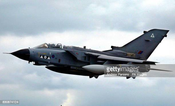 Tornado Gr4 takes off from RAF Marham, Norfolk. 06/02/03 : Defence Secretary Geoff Hoon told the House of Commons that around 100 RAF aircraft and...