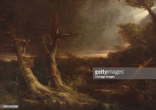 Tornado in an American Forest, 1831. Artist Thomas Cole.