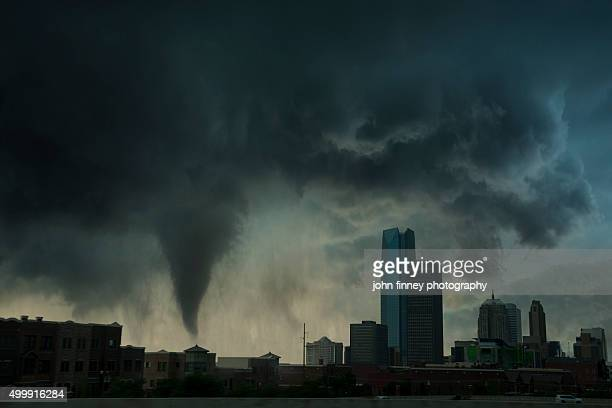 Tornado over Oklahoma city. USA.