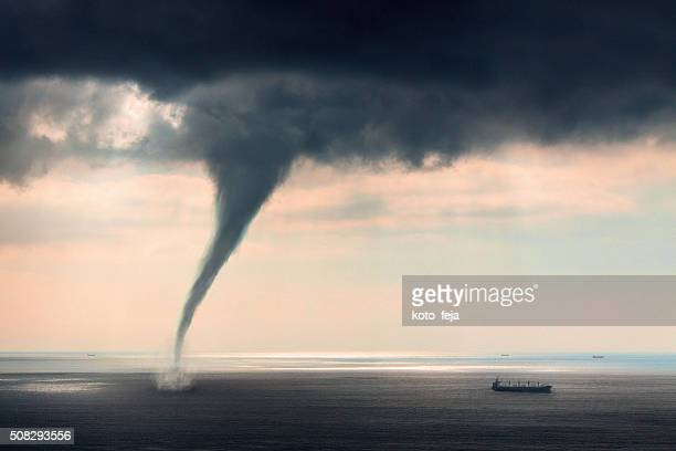 tornado sea - natural disaster stock pictures, royalty-free photos & images