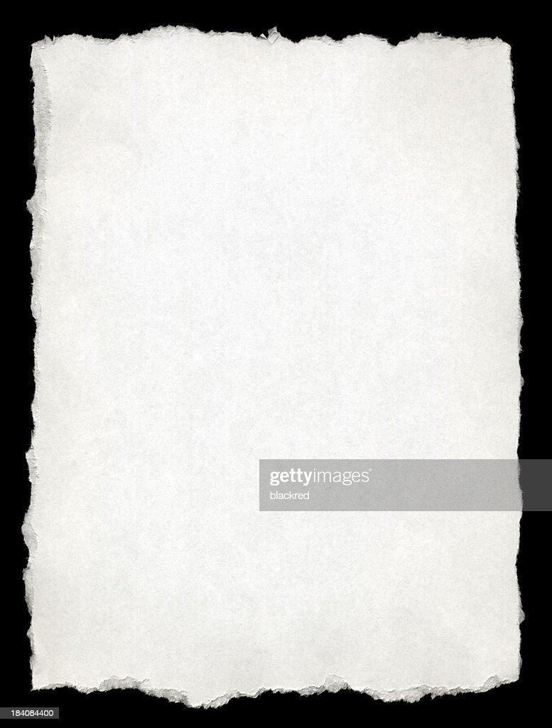 Zerrissen-Kante Weißbuch : Stock-Foto