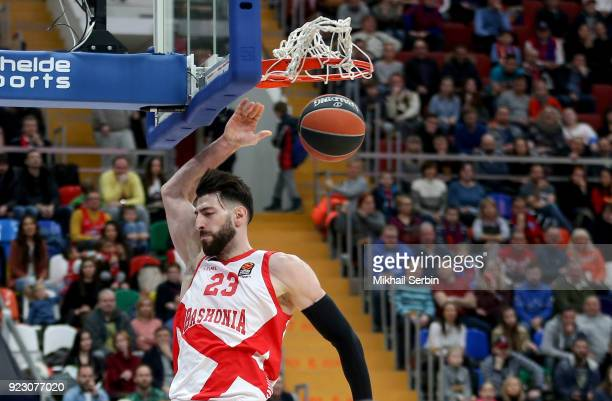 Tornike Shengelia #23 of Baskonia Vitoria Gasteiz in action during the 2017/2018 Turkish Airlines EuroLeague Regular Season Round 23 game between...