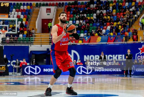 Tornike Shengelia #23 of CSKA Moscow in action against Alba Berlin during the Turkish Airlines EuroLeague Round 4 of 20202021 season at the Megasport...