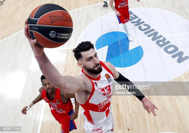 Tornike Shengelia in action during the 2017/2018 Turkish Airlines EuroLeague Regular Season Round 23 game between CSKA Moscow and Baskonia Vitoria...