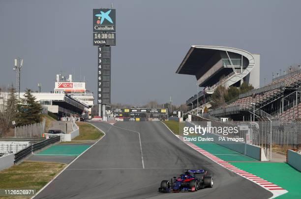 Toro Rosso Alexander Albon during day four of preseason testing at the Circuit de BarcelonaCatalunya