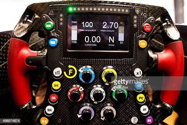 Toro Rosso STR9 Steering Wheel is pictured during practice for the Japanese Formula One Grand Prix at Suzuka Circuit on October 3 2014 in Suzuka Japan