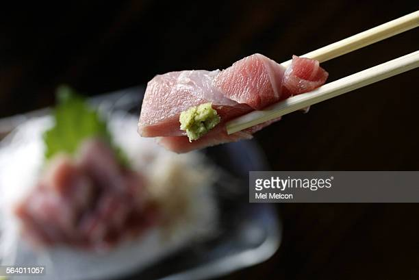 O–Toro sashimi with fresh wasabi at Kiriko sushi in West Los Angeles
