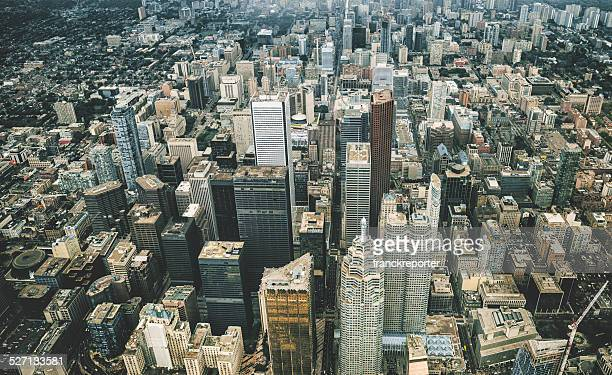 toronto aerial view - toronto stock pictures, royalty-free photos & images