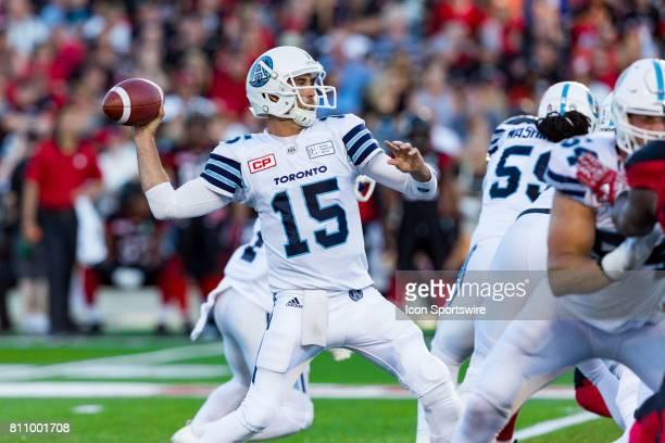 Toronto Argonauts quarterback Ricky Ray prepares to throw a pass during Canadian Football League action between the Toronto Argonauts and Ottawa...
