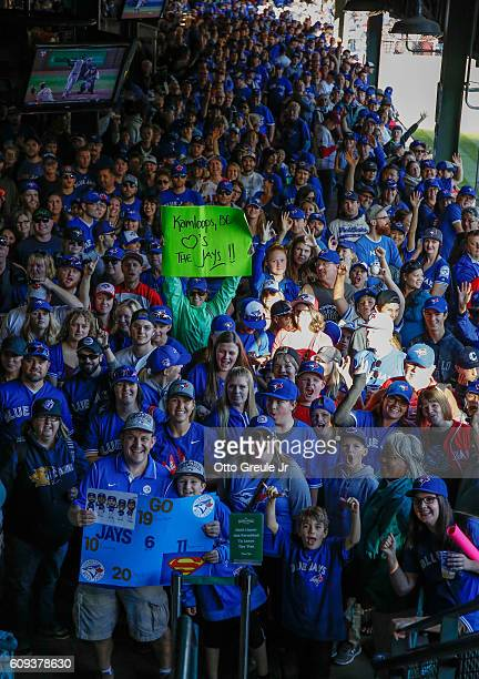 Toronto Blue Jay fans wait to enter the park prior to the game against the Seattle Mariners at Safeco Field on September 20 2016 in Seattle Washington
