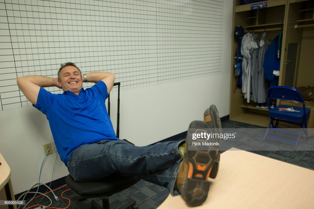 Toronto Blue Jay manager John Gibbons in his office. Toronto Blue Jays begin to assemble at Florida Auto Exchange Stadium as the Jays prepare to open Spring Training camp. Pitchers and catchers must report for medicals today followed by full workouts on Wednesday as the team prepares for the 2017 pre season of Major League Baseball. Toronto Star/Rick Madonik