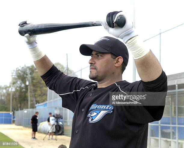 Toronto Blue Jays catcher Bengie Molina at a spring training workout February 22 2006 in Dunedin Florida