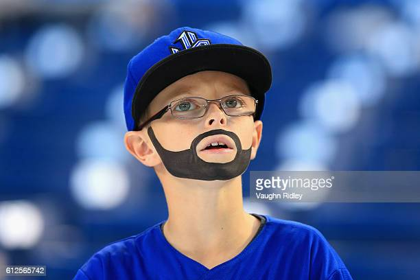 Toronto Blue Jays fan looks on prior to the American League Wild Card game between the Toronto Blue Jays and the Baltimore Orioles at Rogers Centre...