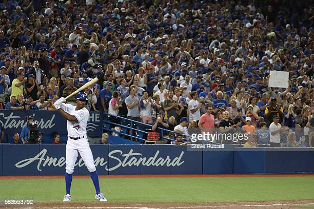 Toronto Blue Jays left fielder Melvin Upton Jr. Comes in to pinch hit for Justin Smoak as the Toronto Blue Jays play the San Diego Padres at the...