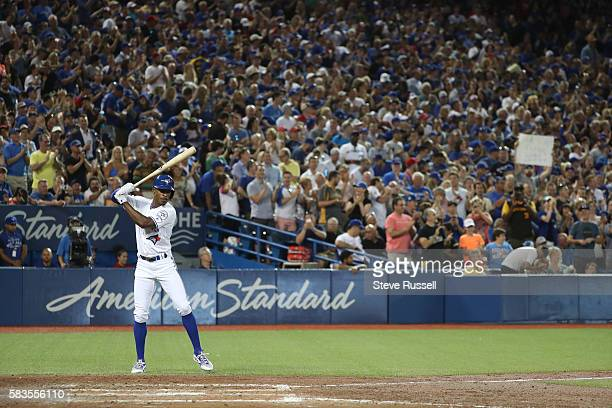 TORONTO ON JULY 26 Toronto Blue Jays left fielder Melvin Upton Jr comes in to pinch hit for Justin Smoak as the Toronto Blue Jays play the San Diego...