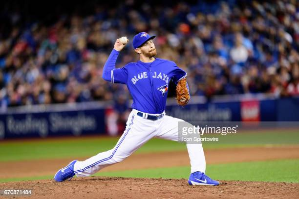 Toronto Blue Jays Pitcher Danny Barnes throws a pitch during the MLB regular season game between the Toronto Blue Jays and the Boston Red Sox on...