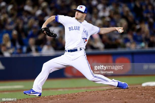 Toronto Blue Jays Pitcher JP Howell throws a pitch during the fifth inning of the MLB regular season game between the Toronto Blue Jays and the...