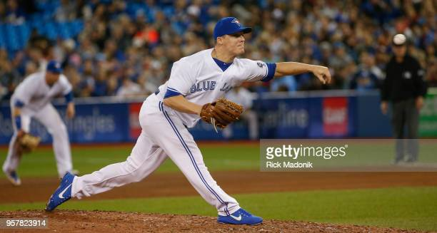 Toronto Blue Jays relief pitcher Aaron Loup at work Toronto Blue Jays Vs Boston Red Sox in MLB regular season play at Rogers Centre in Toronto Jays...
