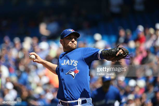 Toronto Blue Jays starter Marco Estrada during the 1st inning of their AL baseball game between the New York Yankees and the Toronto Blue Jays at the...