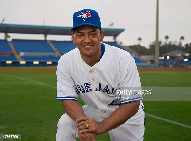 Toronto Blue Jays third base coach Luis Rivera during photo day from the 2014 Toronto Blue Jays Spring training camp at the Florida Auto Exchange...