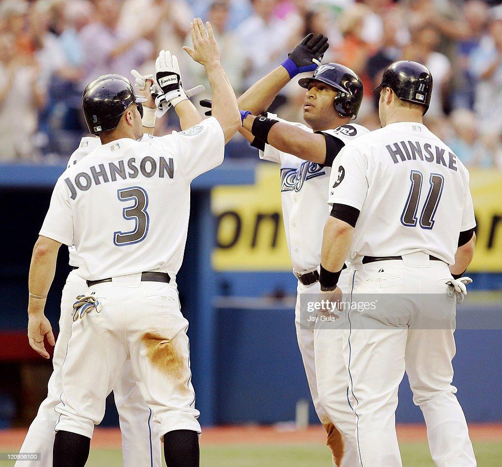 Texas Rangers vs Toronto Blue Jays - July 17, 2006 : News Photo