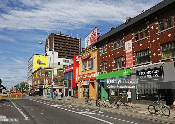Toronto Businesses on Bloor Street, Annex Neighbourhood in Summer
