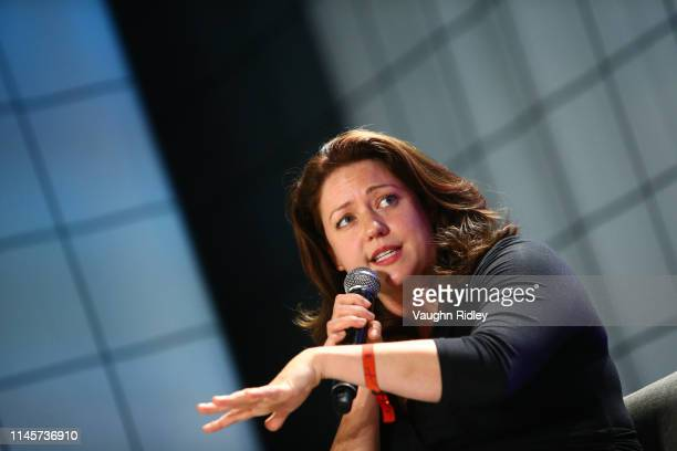 Toronto Canada 23 May 2019 Liesel Pritzker Simmons CoFounder Blue Haven Initiative on Venture Stage during day three of Collision 2019 at Enercare...