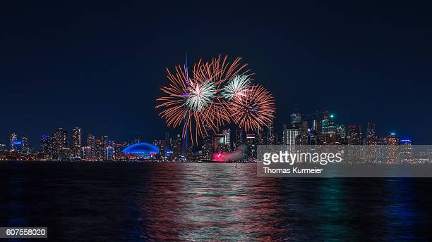 toronto - canada day fireworks - canada day stock pictures, royalty-free photos & images