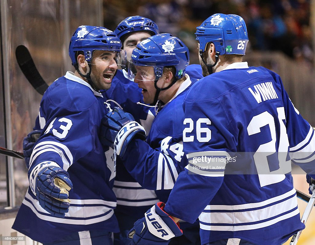 Leafs played Winnipeg Jets at the ACC : News Photo