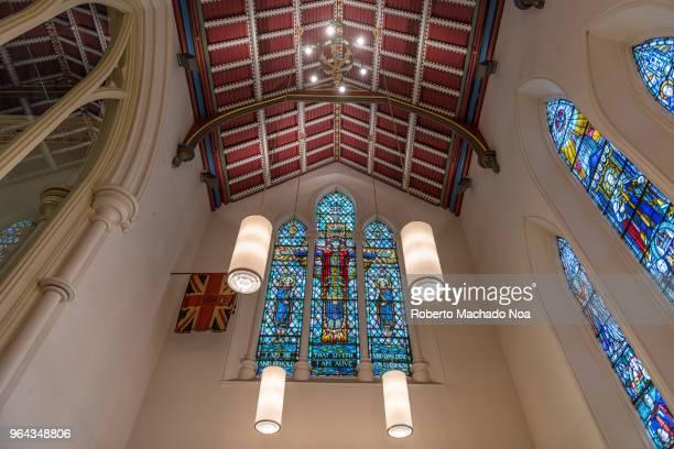 toronto canada: indoors in the saint james cathedral church - chapel - fotografias e filmes do acervo