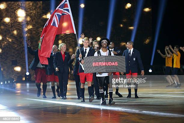 Toronto Canada July 10 2015 Bermuda marches in The Opening Ceremonies of the Pan Am Games were held at the Rogers Centre in Toronto Friday night...