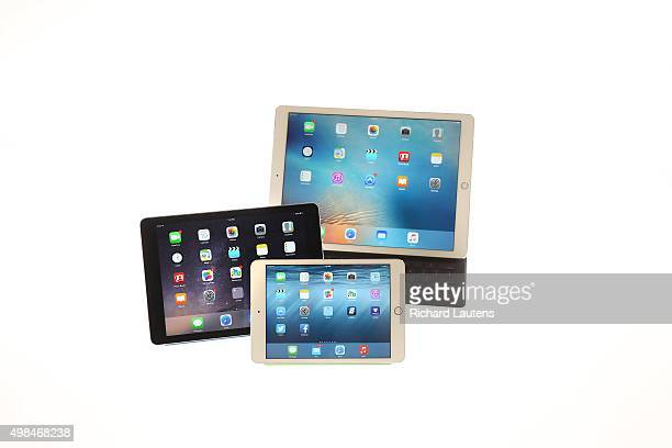 Toronto Canada November 19 2015 The iPad pro is seen in Star Studio by itself with the keyboard as well as with the iPad mini and iPad for...