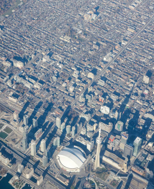 Toronto, Canada. Photographed from Directly Above