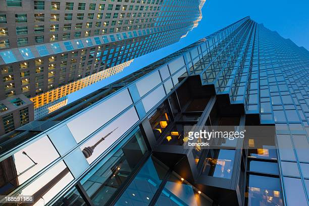 toronto, canada - financial district stock pictures, royalty-free photos & images