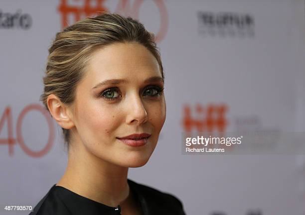 Toronto Canada September 11 2015 Actress Elizabeth Oslen on the red carpet LIGHT movie red carpet at the Ryerson Theatre Expected guests director...
