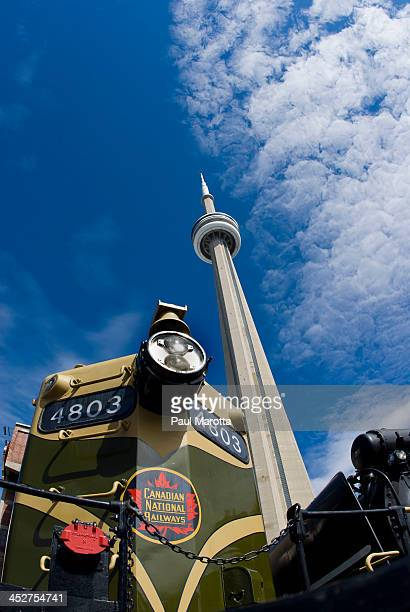 Toronto Canadian National Tower and Locomotive